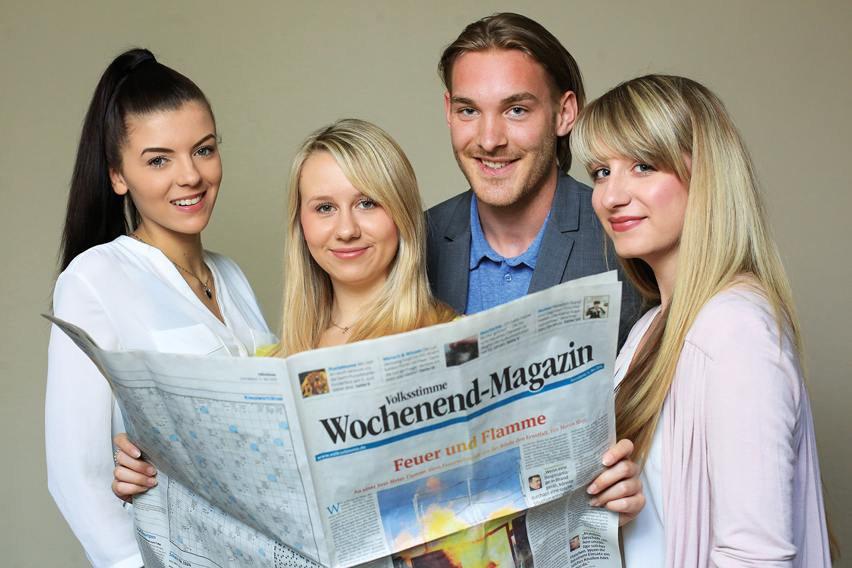 Azubis der Mediengruppe Magdeburg