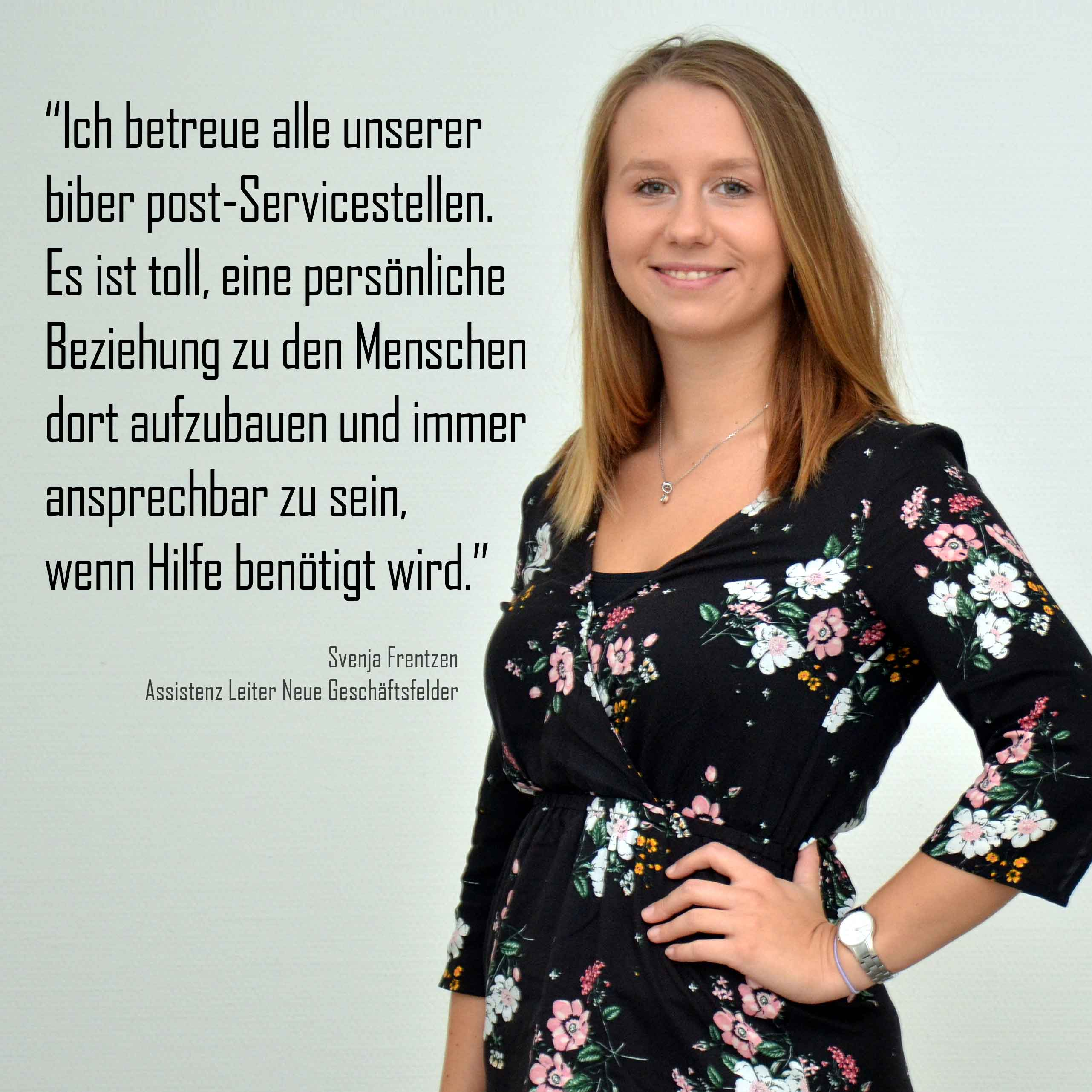 Svenja Frentzen - Statement zur biber post