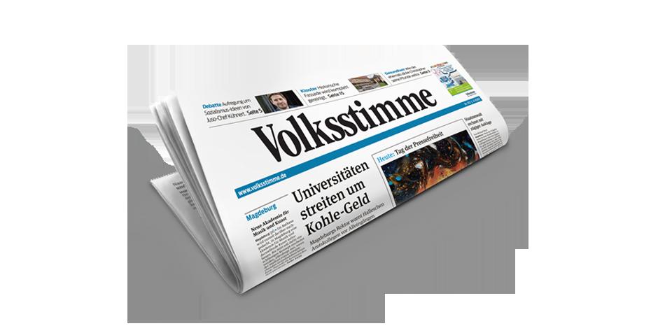 Volksstimme Tageszeitung Titelbild
