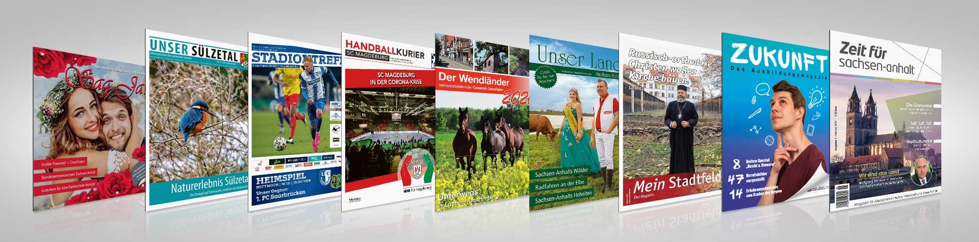 Magazine der Mediengruppe Magdeburg